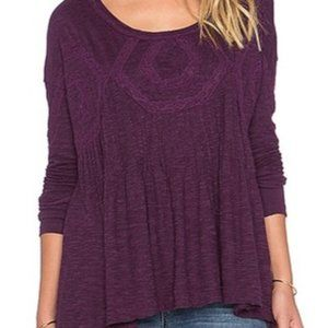 Free People African Violet New Hope Blouse
